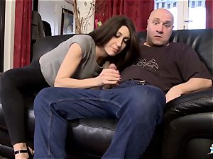 LA COCHONNE - big-boobed French stunner pulverized in MMF three-way