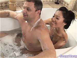 asian beauty Asa Akira as the Soapy massage Parlour