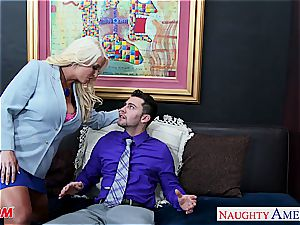 blond mummy Alura Jenson gets enormous bumpers pulverized