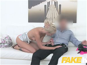 fake Agent adorable towheaded model luvs being banged
