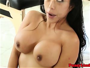 Bigtitted japanese biotch fucked harsh from behind