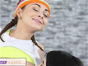 sport apartments Pert diminutive teenage gym damsels