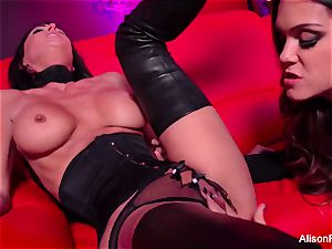 crimson room and molten strap-on action