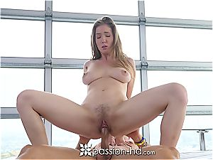 big-chested Lena PAul gets plumbed point of view style