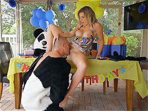 hung fellow in panda costume pounds milf Cory haunt