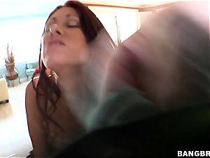 Tiffany Mynx ravaged by a huge ebony lollipop
