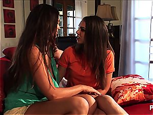 mouth-watering lesbian honies tribbing