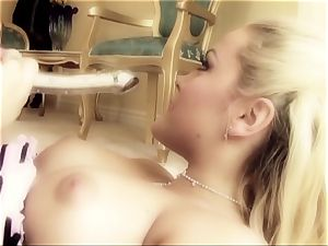 porn stunner Tori ebony is inserted in suspenders