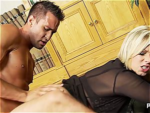 tearing up the blond librarian