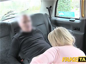 faux taxi luxurious mum with immense jugs deep throats meatpipe