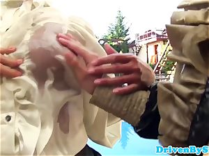 horny trio lesbos fisting and pusslicking