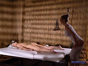 rubdown rooms Amirah Adara and Nathaly Cherie uber-sexy massage