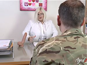 AgedLovE Lacey Starr romping firm with Soldier