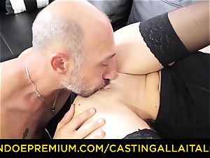 audition ALLA ITALIANA - filthy newbie anal invasion audition
