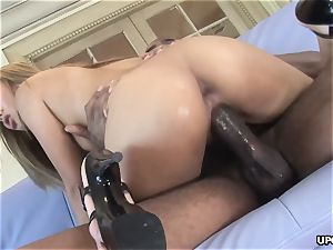 jaw-dropping chinese damsel Lana Croft destroyed by ample black man-meat
