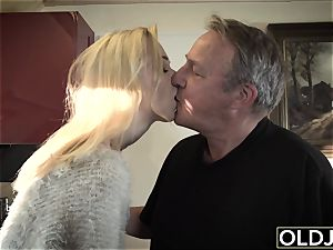 young older porn Martha gives grandfather a messy oral pleasure