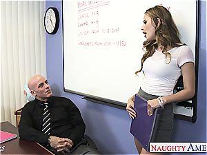 slim Jillian Janson insane for her teacher's man meat