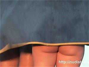 beautiful nudist honeys filmed frolicking on the nude beach