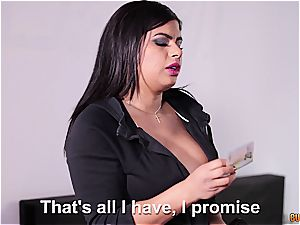 curvaceous latina with meaty innate cupcakes hard-core fucked by the handyman
