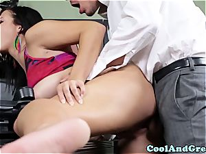 nicely-shaped cutie boned by her coach in his office