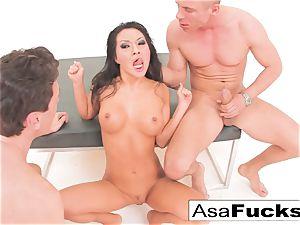 Asa Akira has a sizzling ass fucking 3some