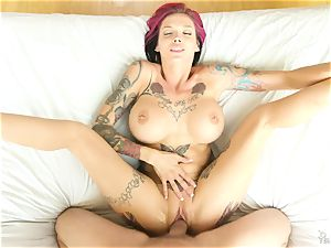 Punk-milf with gigantic boobies and tats Anna Bell Peaks wants muddy sex