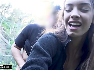 Charity Crawford gets her twat stretched outdoors