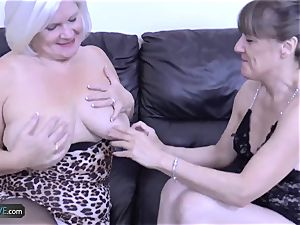 AgedLovE Mature towheaded Lacey Starr gonzo screw