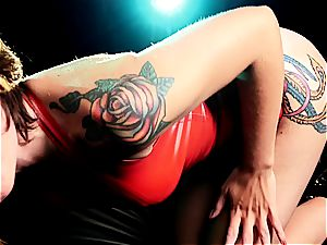 spandex and tart with tats have always been hand in forearm together