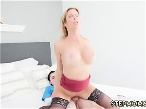 mommy instructs hardcore My peeping friend s step son