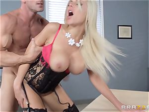 red-hot manager Nina Elle tempts her worker