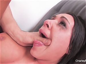 dark-haired hotty Charley gets a raunchy plumbing