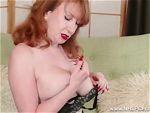 big-titted crimson finger plows cootchie in garter nylons and pumps