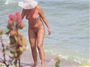 orgy On The Beach - first-timer nudist voyeur mummies