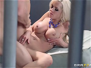 Nina Elle fucks a fantastic con in front of her hotwife husband