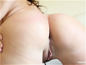 yam-sized titted sweetie Alison Tyler plays with her fuckbox