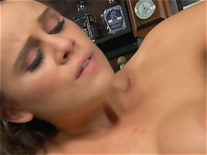Alexis Adams humps the manager in the bar