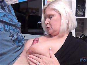 super-steamy milf Lacey Starr hard-on gargling