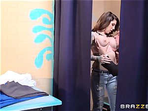 warm mother Darling Danika nails secretary in the changing room