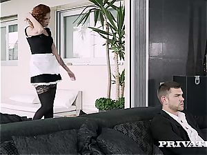Private.com red-haired maid greedy for cum