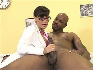 Lisa Ann handsome milf doctor
