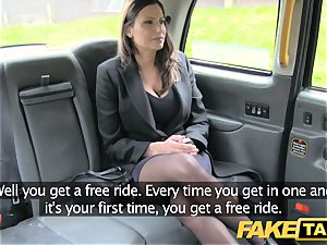 faux taxi sizzling big-boobed stunner gets fat jizm shot