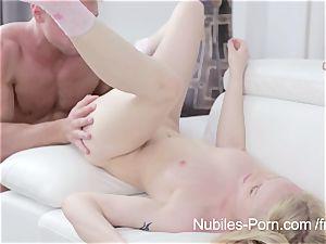 Nubiles porn - jizm dripping down towheaded cuties face