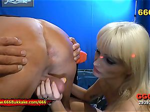 tossing salad and piss For luxurious light-haired Mia breezy 666Bukkake