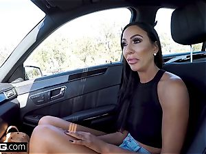 Real cougars - Tiffany Brookes point of view shaft deepthroating in public