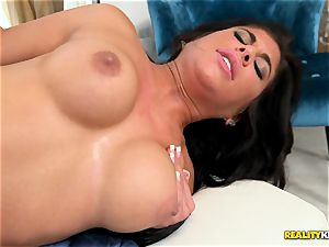 jiggly Alexa Pierce is a mind-blowing rosy sundress is well-prepped for a stuffing
