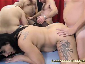 unexperienced group sex plumb hook-up