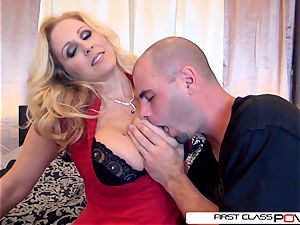 Julia's husband watch her getting porked by other studs