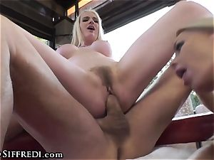 huge-boobed brit taunted by Rocco Siffredi and Kelly Stafford