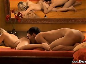 ass fucking intercourse delectation from light-haired cougar